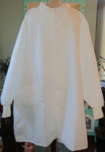 "Best Medical L/S Lab Coat Knit Cuffs 2 Pockets 42"" Length White Size 2X & 3X"