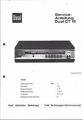 Dual Service Manual für CT 15