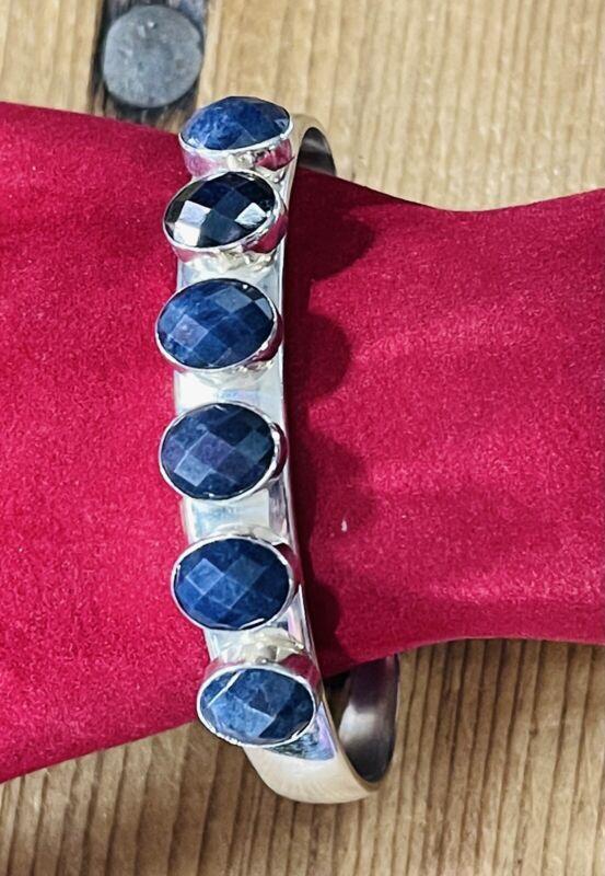 Jay King Desert Rose Trading Sterling Silver Sodalite Cuff Bracelet Mine Finds