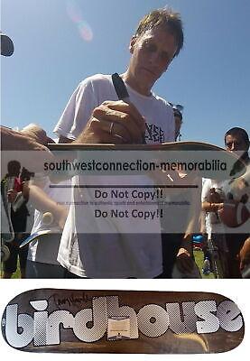 Tony Hawk Signed Autographed Birdhouse Logo Skateboard Deck Proof Beckett BAS