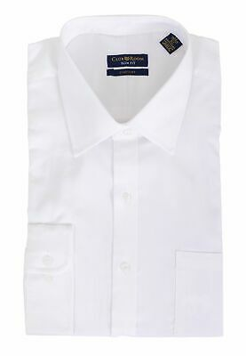 Men's Club Room Slim Fit Solid White Easy Care Cotton Spread Collar Dress Shirt Club Room White Dress Shirt