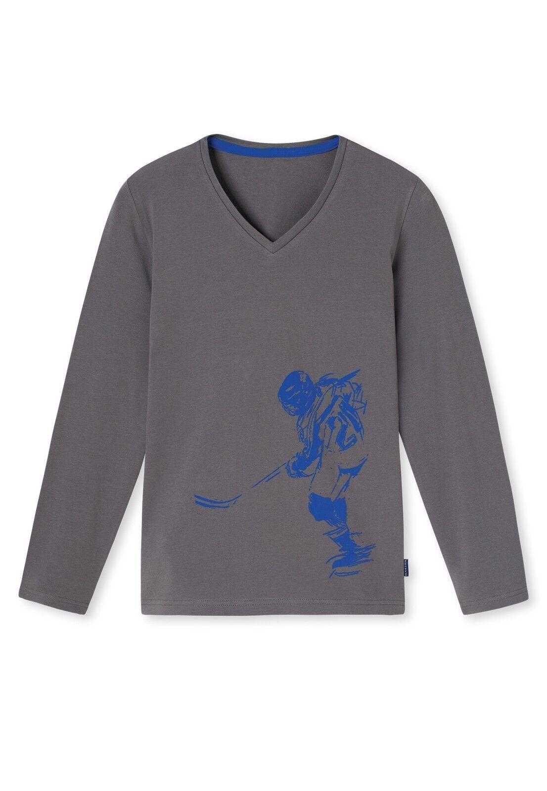 Schiesser Jungen Schlafanzugoberteil Shirt Langarm 1/1 Mix & Relax - 153865