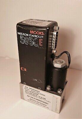 Brooks 5850e Mass Flow Controller Calibrated For Nitrogen N2 10 Slpm