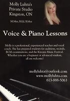 High-quality Voice and Piano Lessons