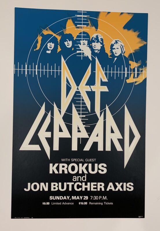 Def Leppard Concert Poster at the Louisville Gardens, Kentucky