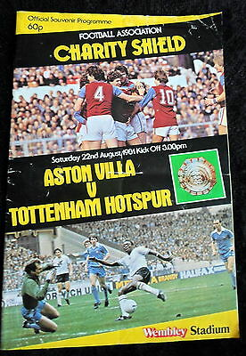 Aston Villa v Tottenham Hotspur      charity shield       22-8-1981