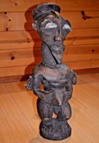 Antique African Songye Power Fetish Nkishi Figure Medicine Bundles Congo, Africa