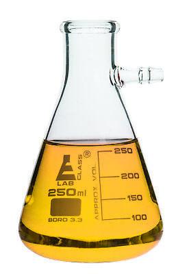 Filtering Flask 250ml Borosilicate Glass 50ml Graduations Integrated Side Arm