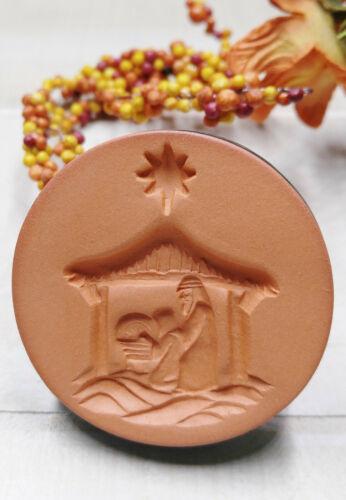 Cookie Stamp Rycraft Terra Cotta Nativity Craft Stamp, Butter Stamp