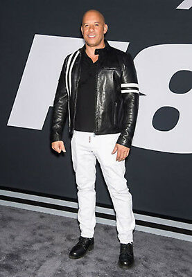 Fate of the Furious Vin Diesel Premiere Leather Jacket ()