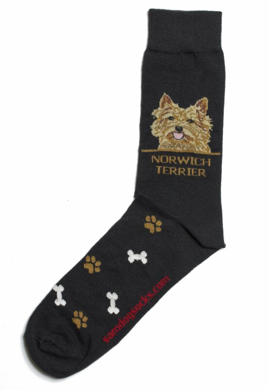 Norwich Terrier Dog Socks Mens