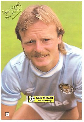 Neil McNab, Manchester City Man City signed autographed football book picture.