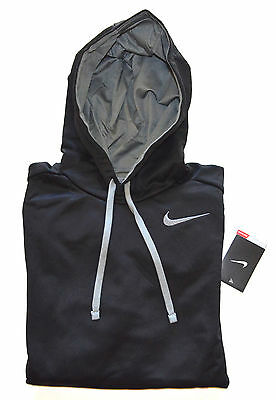 NWT Men's NIKE THERMA-FIT Pullover Hoodie Sweatshirt, Black, Gray M, Medium