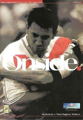 St Helens v Warrington - 2000 (August) - Super League