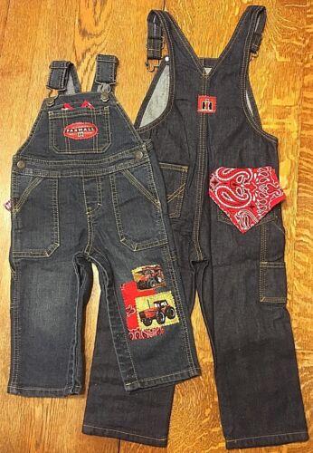NEW Case International Harvester Bib Overalls, blue denim Jeans Infants Toddlers