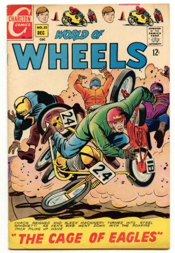 High Grade! World of Wheels 23 1968 12c Comic Charlton Cage of Eagles