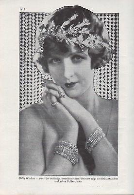 Werbung 1928, Bildnis Portrait Fotografie des amerikan. Filmstars Claire Windsor