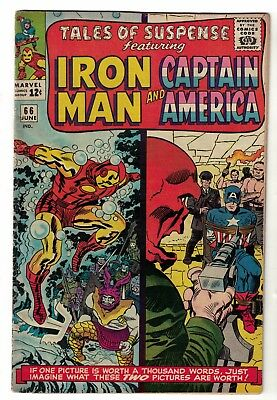 Marvel comics Tales of suspense 68 Classic Red Skull cover FN- 5.5 iron man