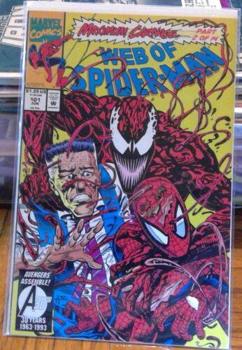 Web of Spier-Man #101, Marvel Comics 1993 Maximum Carnage #2 NM