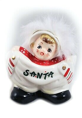 Elf In Santa's Pants Small Candy Bowl Vintage-Christmas design NEW - Small Christmas Elves