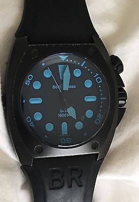Bell & Ross Pro Diver BR02-20-S Blue Men's Watch 100% Authentic