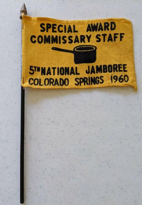 1960 National Jamboree Commissary Staff Award Flag Boy Scouts of America BSA