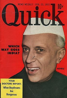 Quick News Weekly Magazine 1953 February 23 News Entertainment Photos   Nehru