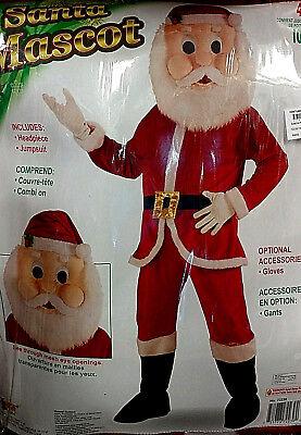 Santa Mascot Adult Costume - Holidays - Mascot Costume - Santa Mascot Costume