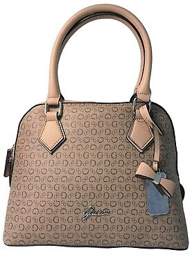 Guess Women's Immaculate Small Dome Satchel Tote Bag Handbag