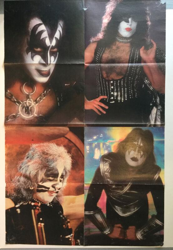 "Kiss Poster Vintage 31.5"" X 20.5"