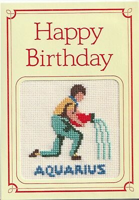 SIGNS OF THE ZODIAC - BIRTHDAY CARD - AQUARIUS - Signs Of Birthday