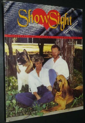 Show Sight Magazine Akita & Bloodhound Cover Feb 1996