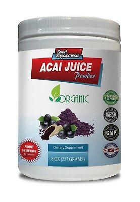 fat burner powder - ORGANIC ACAI JUICE POWDER 8oz - acai berry cleanse - 1 Can Acai Cleanse Acai Berry