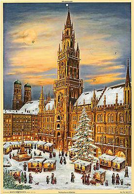 Weihnachten in München Marienplatz Rathaus Adventskalender. Kunstverlag Brück
