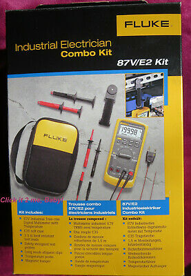 New Fluke 87ve2 Electrician Combo Kit True-rms Multimeter W Temperature 87v-v