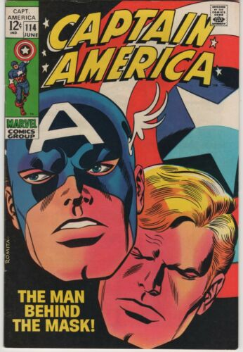 Marvel CAPTAIN AMERICA 114 1969  VF-NEAR MINT