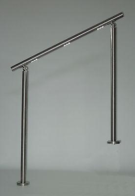 Treppengeländer LED-Handlauf V2A Bausatz Länge 100cm LED-Beleuchtung