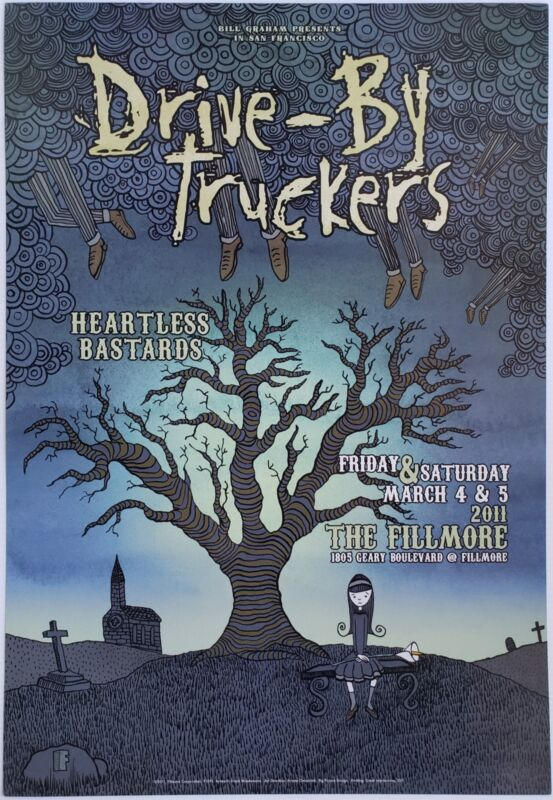 Drive-By Truckers Concert Poster 2011 F-1091 Fillmore