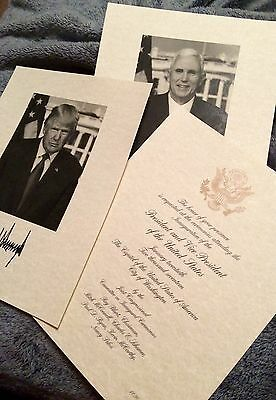Donald J  Trump Jan  20  2017 Official Inauguration Invitation   Photo Signature
