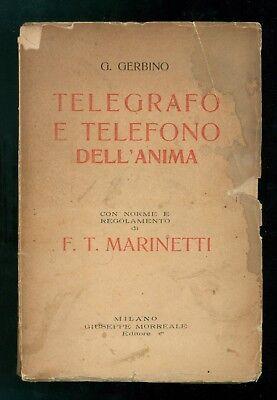 GERBINO GIOVANNI TELEGRAFO TELEFONO DELL'ANIMA MORREALE 1926 MARINETTI FUTURISMO