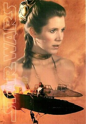 Star Wars Princess Leia Carrie Fisher Slave Costume Postcard 6