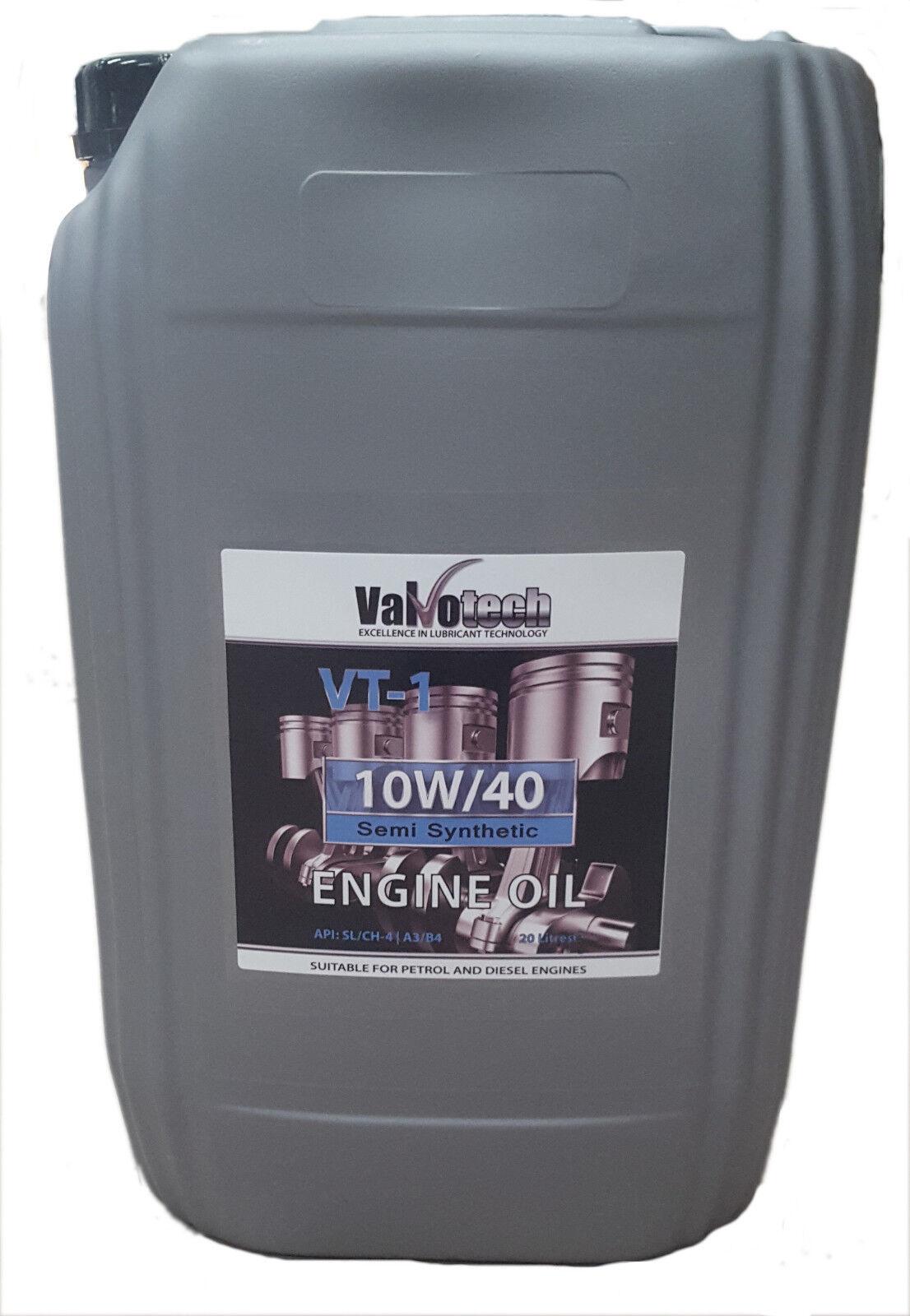 10W40 SEMI SYNTHETIC CAR VAN ENGINE OIL 20 LITRE 20L 10W 40 DRUM VALVOTECH
