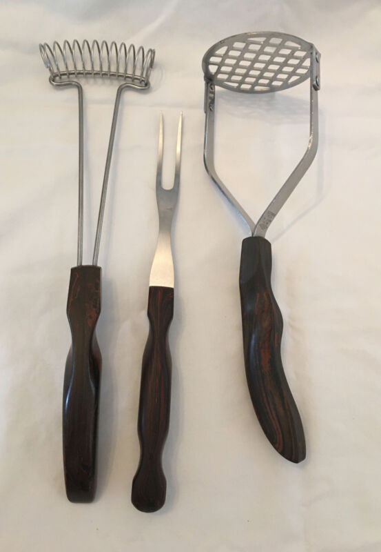 CUTCO #14 MASHER + CARVING FORK #27 + WHISK #1060