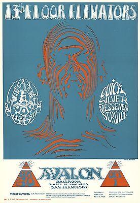 13th Floor Elevators 1966 FD 28 ZEBRA MAN Family Dog Avalon Poster