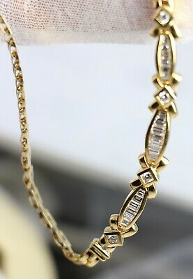 14KT Gold Necklace with Diamonds Estate -