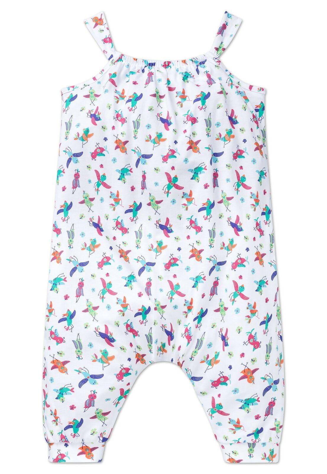 SCHIESSER Mädchen Schlafanzug Pyjama Overall Jumpsuit Tropical Bird NEU*UVP24,95