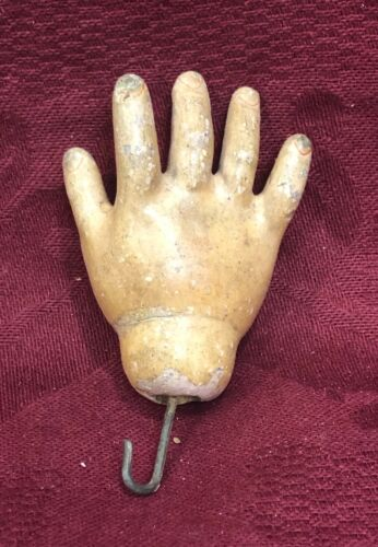 Single Antique Composition Doll Hand - Right Hand