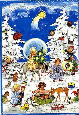 """# Adventskalender #  KORSCH Verlag 10103 """" Engel mit Eselchen im Wald """" GLIMMER"""