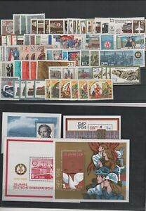 Germany-GDR-vintage-yearset-Yearset-1984-Mint-MNH-complete-Complete