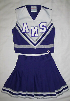b1a05b7104 Cheerleader & DanzTeam Purple White AMS Chearleading Outfit Youth Girls  Size 16